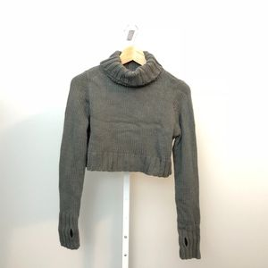 Tobi Small Crop Sweater Thumbholes